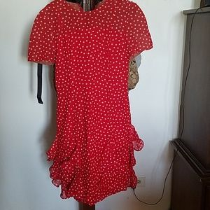 Dresses & Skirts - Red with White Pok a dot dress